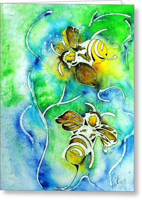 Good Day To Be A Bee Greeting Card by Pat Purdy