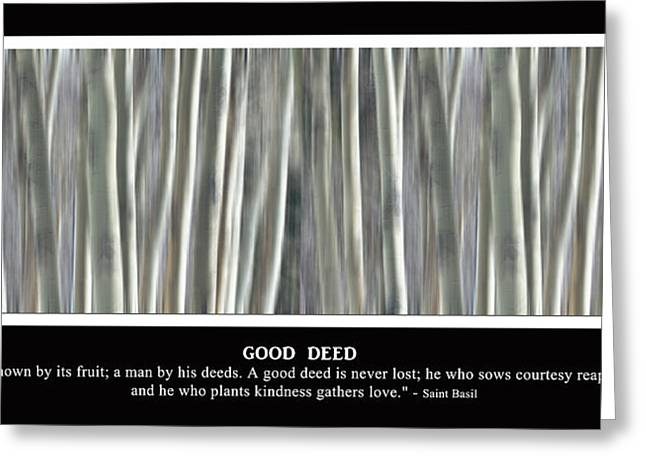 Good Deed Greeting Card by James BO  Insogna