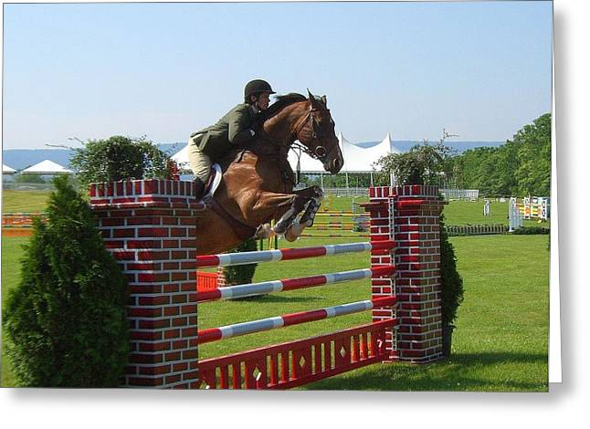good form at Upperville Greeting Card