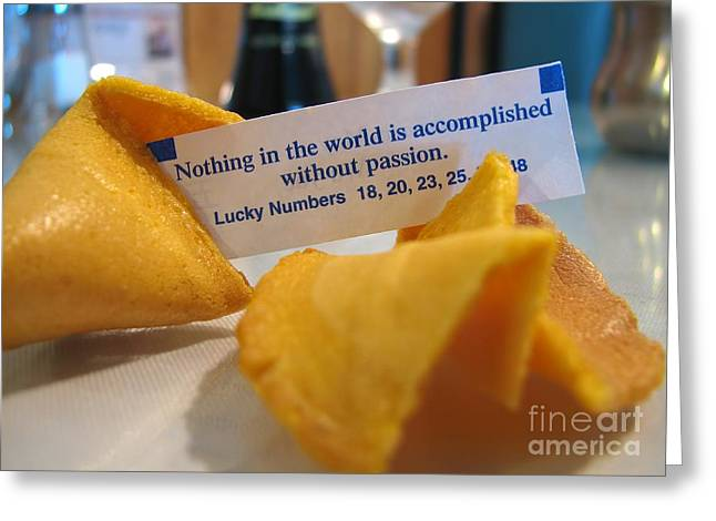 Good Fortune Greeting Card by Peggy Hughes