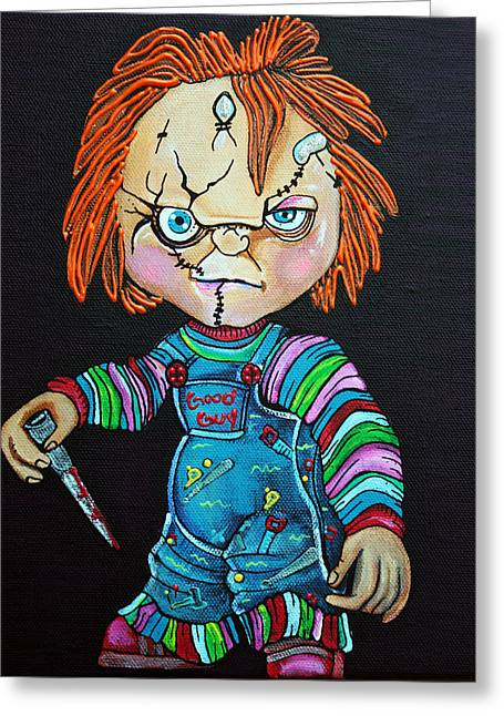 Good Guy Doll Greeting Card by Laura Barbosa