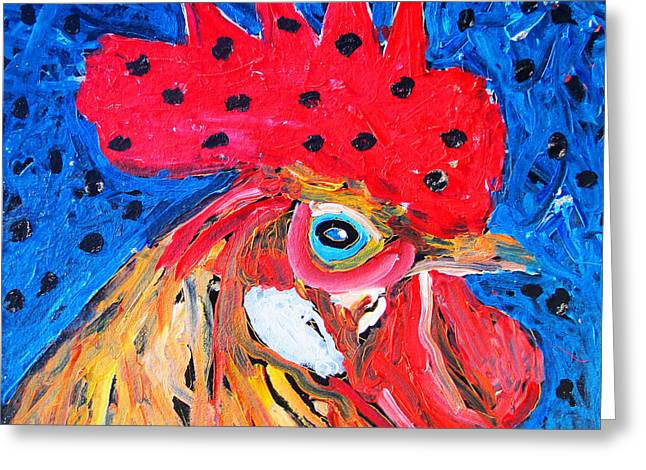Good Luck Rooster Greeting Card