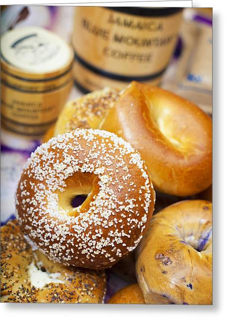 Good Morning Bagels Greeting Card by Shanna Gillette