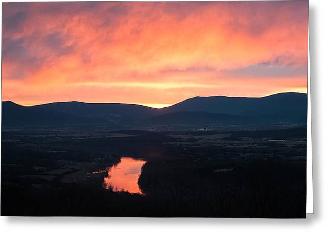 Good Morning Blue Ridge Greeting Card