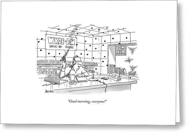 Good Morning Greeting Card by Jack Ziegler