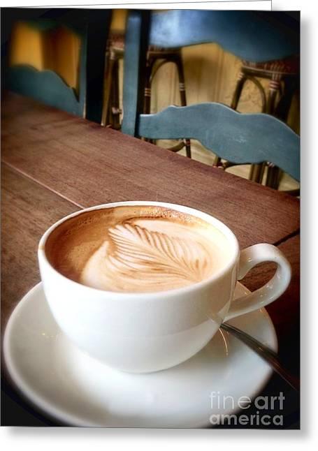 Good Morning Latte Greeting Card