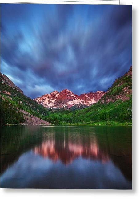 Good Morning Maroon Greeting Card by Darren  White