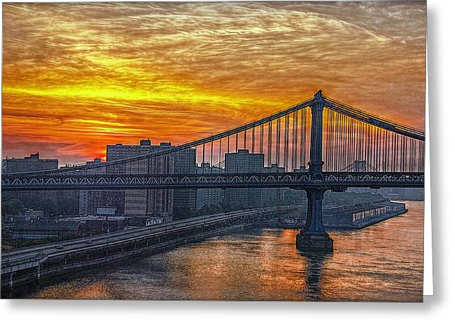 Good Morning New York Greeting Card by Hanny Heim