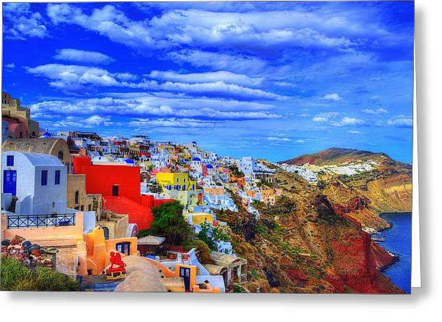 Good Morning Santorini Greeting Card