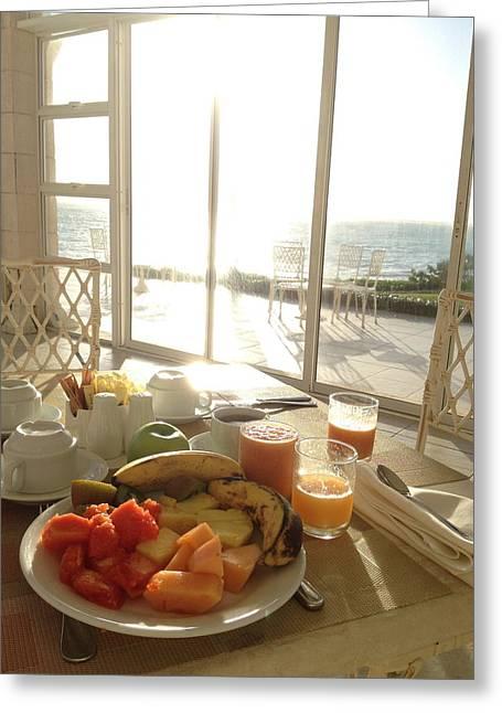 Good Morning Greeting Card by Selia Hansen