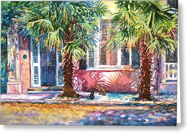 Good Neighbors Greeting Card by Alice Grimsley