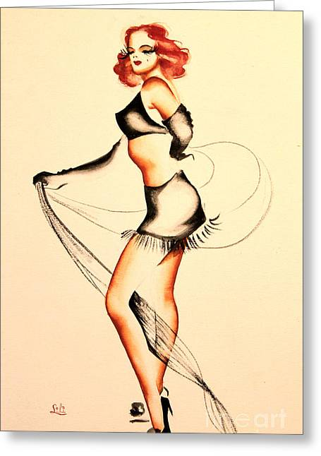Good Night Ladies Dancer Greeting Card