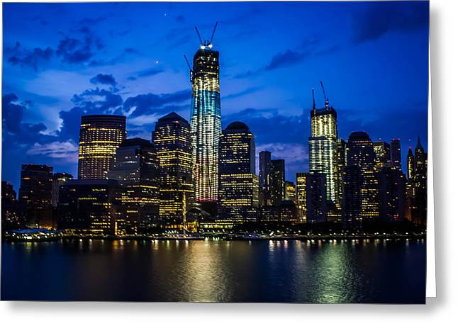 Good Night, New York Greeting Card by Sara Frank