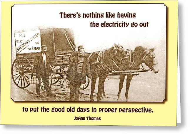 Good Old Days Greeting Card by Mike Flynn