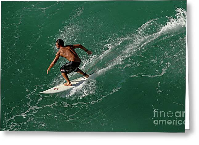 Good Waves Good Body Greeting Card by Bob Christopher