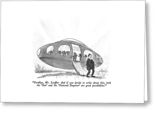 Goodbye, Mr. Loeffler.  And If You Decide Greeting Card by James Stevenson