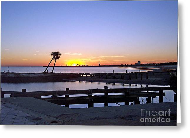 Greeting Card featuring the photograph Goodbye Sun by Roberta Byram