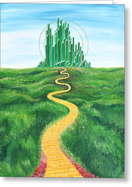Goodbye Yellow Brick Road Greeting Card