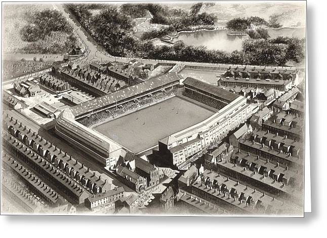 Goodison Park 1955 - Everton Greeting Card by Kevin Fletcher