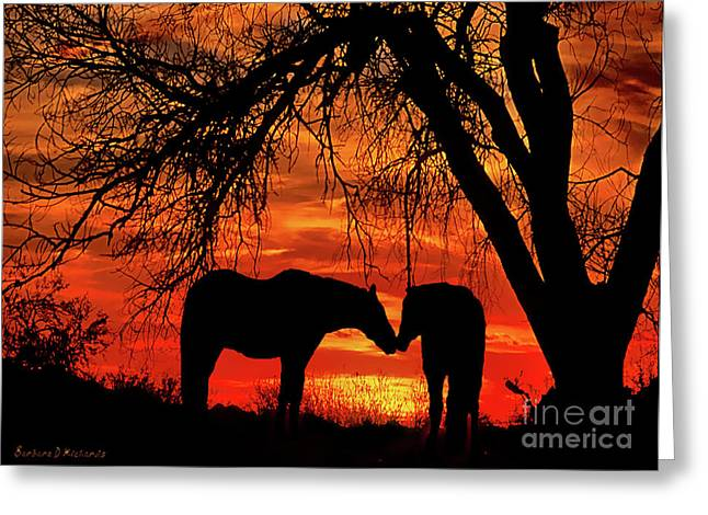 Goodnight Kiss Greeting Card by Barbara D Richards