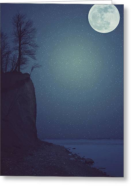 Goodnight Moon Greeting Card by Carrie Ann Grippo-Pike