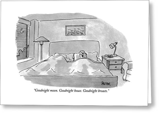Goodnight Moon.  Goodnight House.  Goodnight Greeting Card