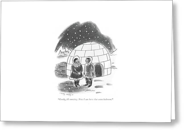 Goody, It's Snowing. Now I Can Have That Extra Greeting Card