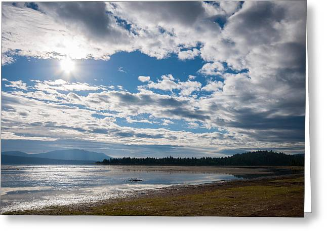 Goose Bay Sunrays Greeting Card