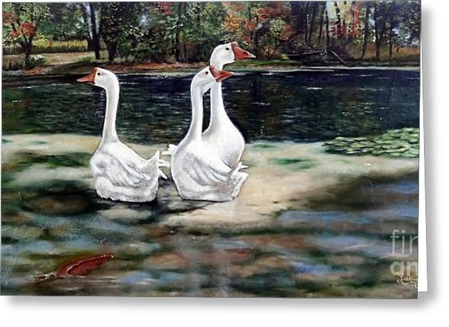 Goose Landscape Greeting Card