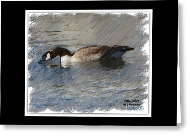 Goosey Lucy Painting Greeting Card