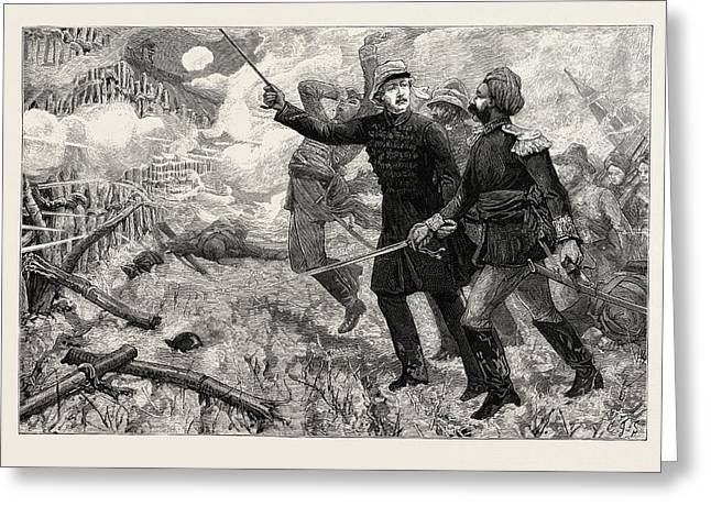 Gordon In China 1863 - 4 Leading The Ever Victorious Army Greeting Card by Chinese School