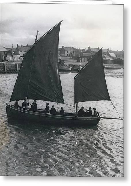 Gordonsrtoun School Seamanship Has An Important Place In Greeting Card by Retro Images Archive