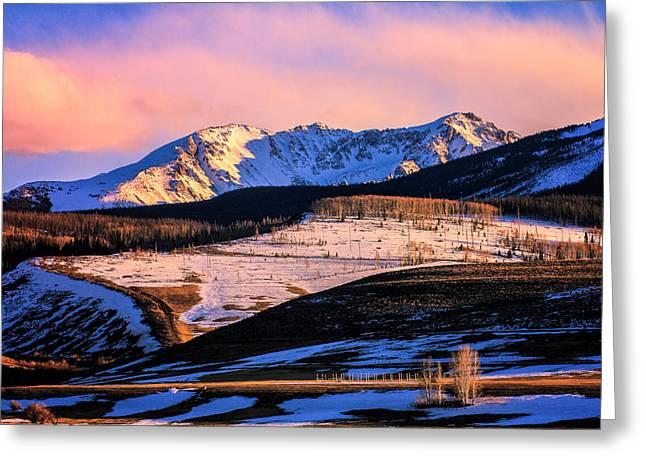Gore Range Sunset Greeting Card by John McArthur