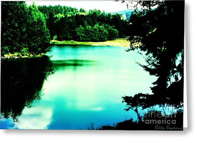 Gorge Waterway Victoria British Columbia Greeting Card by Eddie Eastwood