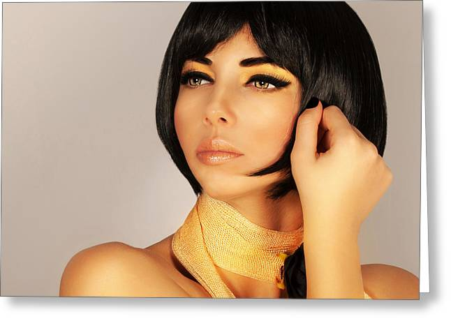 Gorgeous Female Haircut Greeting Card