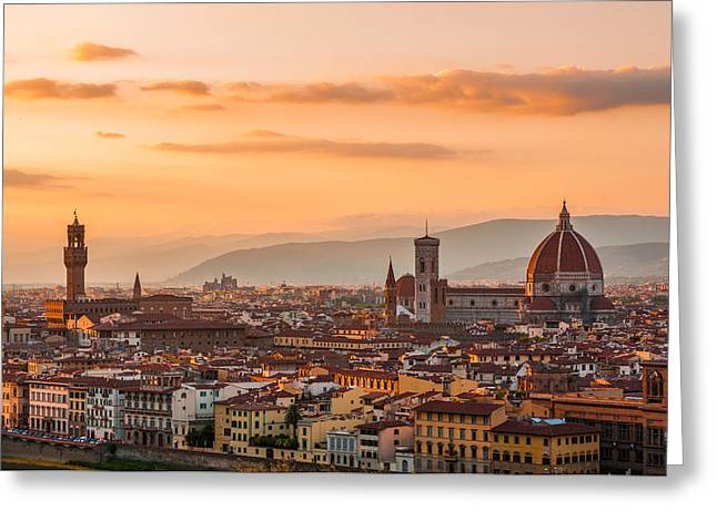 Gorgeous Florence City Greeting Card by Gurgen Bakhshetsyan