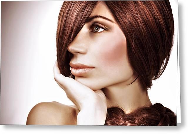 Gorgeous Hairdo Greeting Card by Anna Om