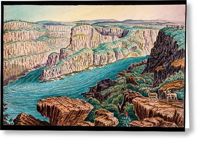 Gorges Below Victoria Falls Greeting Card