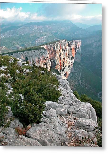 Gorges Du Verdun Greeting Card by Alan Toepfer