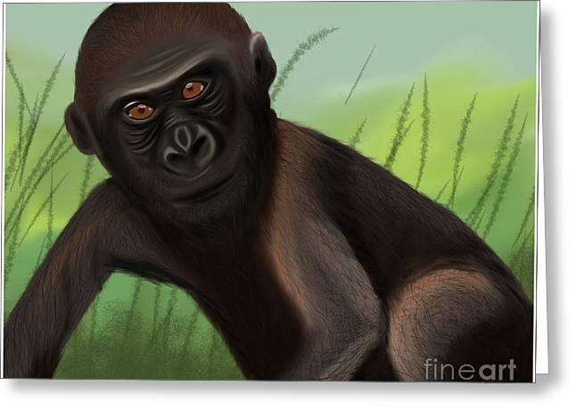 Gorilla Greatness Greeting Card