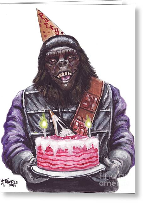 Gorilla Party Greeting Card