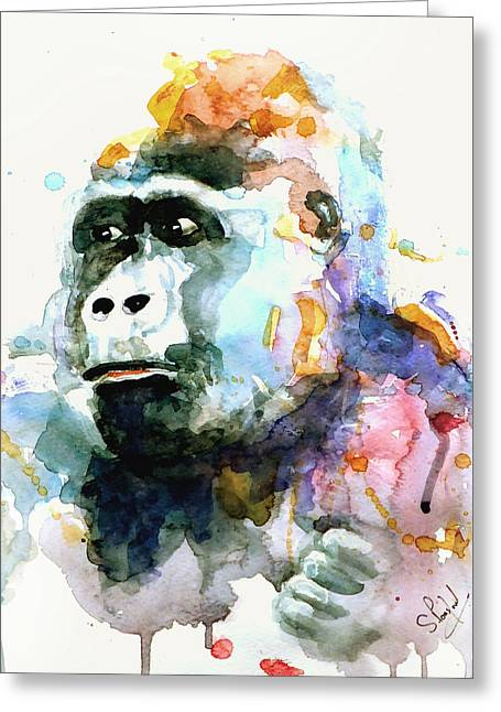 Gorrilla Greeting Card by Steven Ponsford