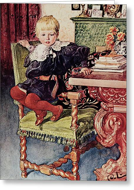 Gosta Greeting Card by Carl Larsson