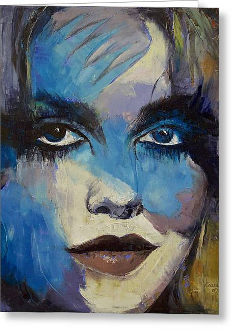 Goth Girl Greeting Card by Michael Creese