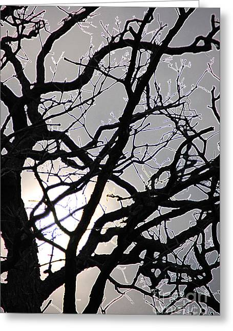 Goth Tree Greeting Card by First Star Art