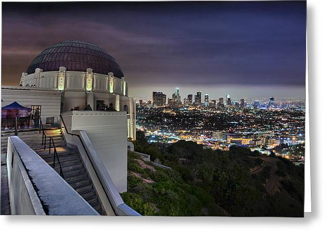 Gotham Griffith Observatory Greeting Card by Scott Campbell