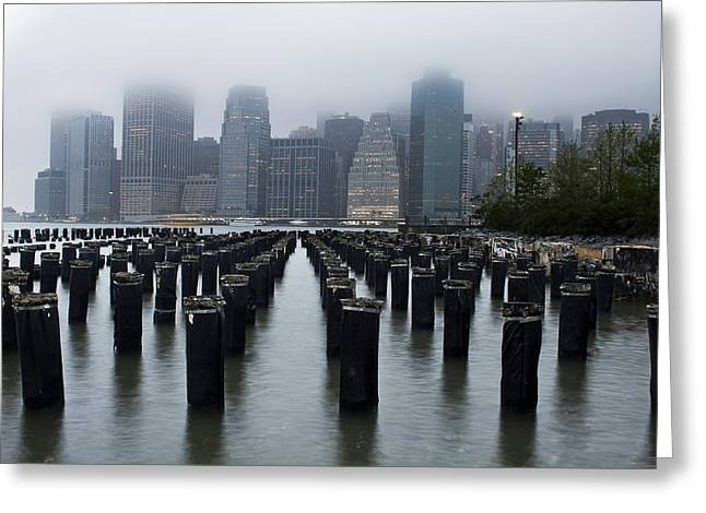 Gotham Mist Greeting Card by Michael Murphy