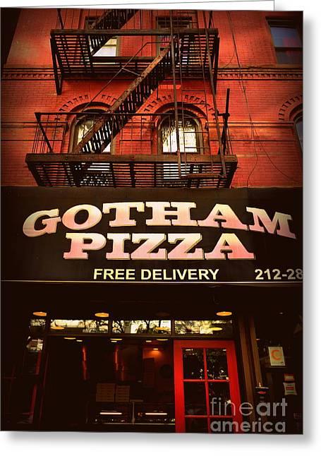 Gotham Pizza Greeting Card