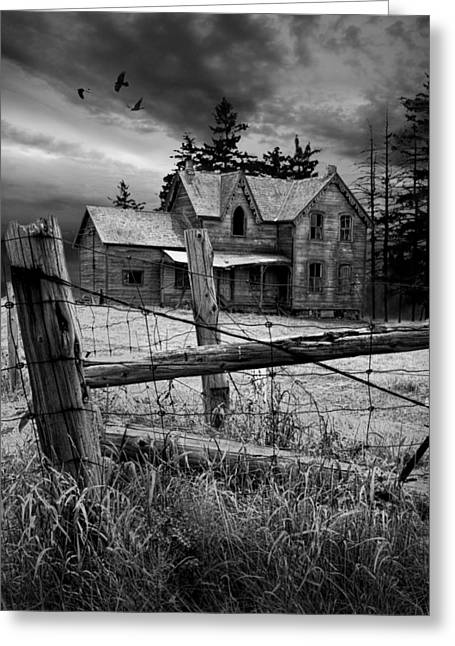 Gothic Abandoned Farm House In Ontario Canada Greeting Card