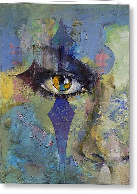 Gothic Art Greeting Card by Michael Creese
